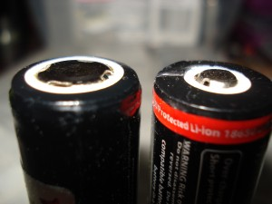 "The different ""tops"" of lithium batteries"