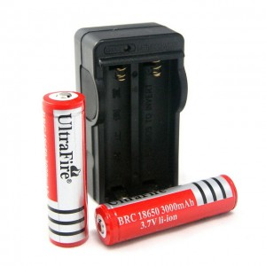 Ultrafire battery charger and lithium batteries