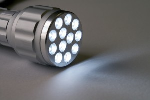 old fashioned LED flashlight