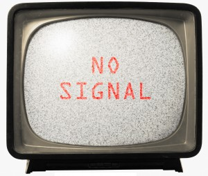 NO SIGNAL TV noise