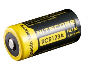 Nitecore RCR123 battery