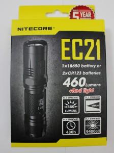 Nitecore EC21 box