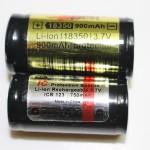18350 (IMR) 16340 (Lithium)