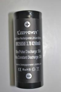 Flat-top 26650 battery