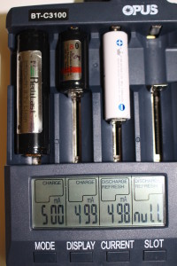 charging 2 lithium and 1 NiMH