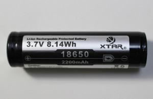 XTAR 3.7v 18650 lithium battery