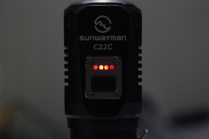 A low battery voltage indicator