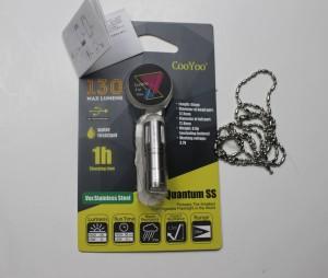Flashlight, manual & detachable chain