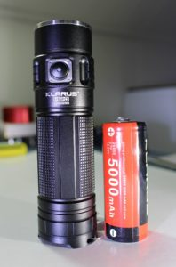 Klarus G20 with a 26650 battery