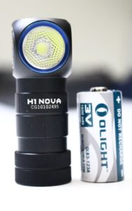 Olight H1 Nova and battery