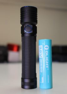 Olight S30R Baton III and battery