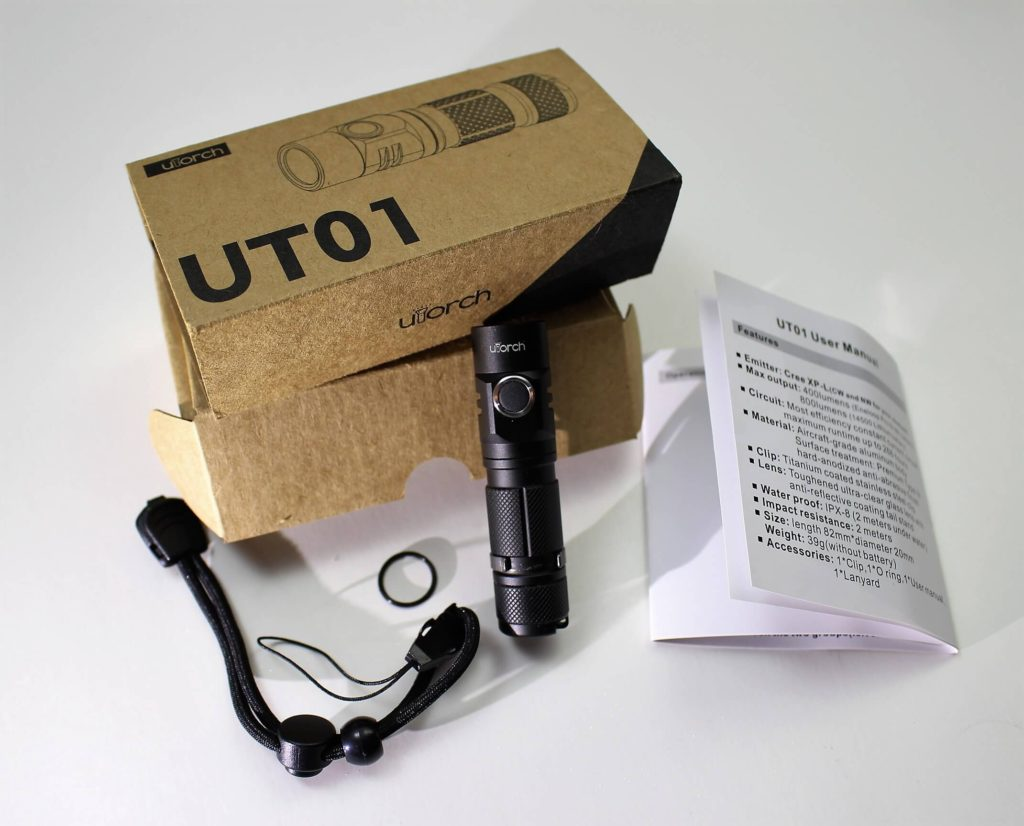 Utorch UT01 package