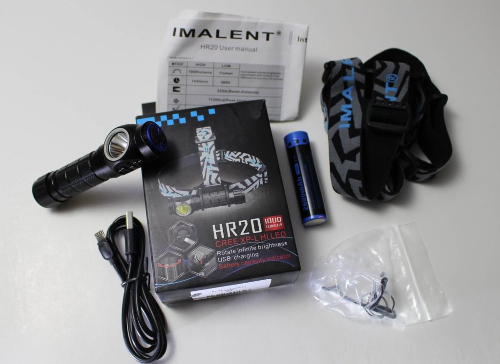 Imalent HR20 box & contents