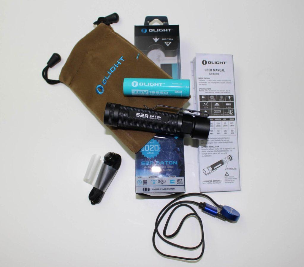 Olight S2R package kit