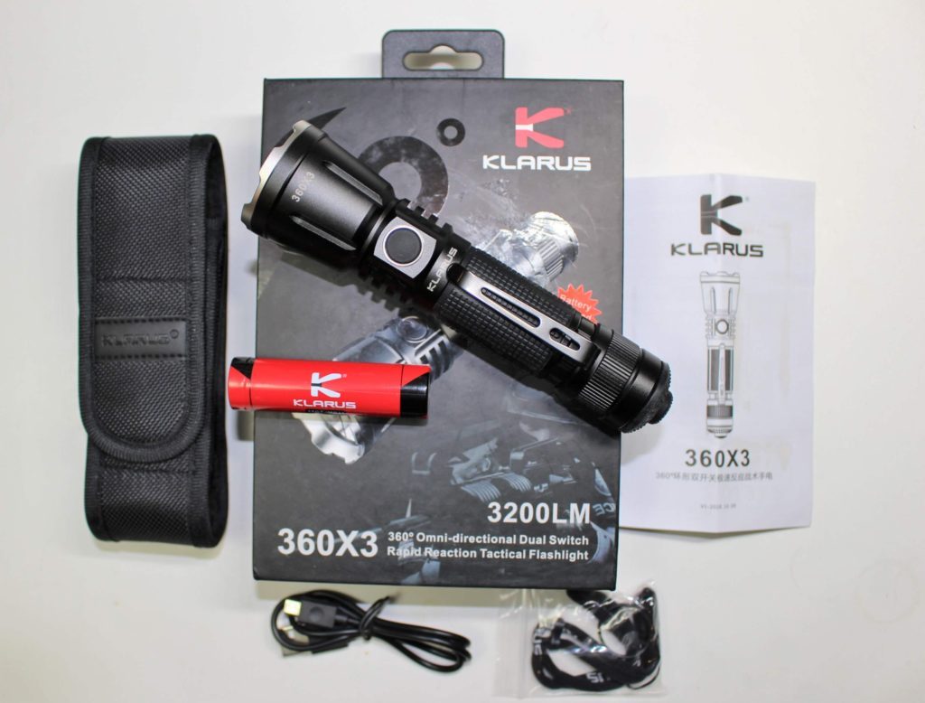 Klarus 360x3 Flashlight Package