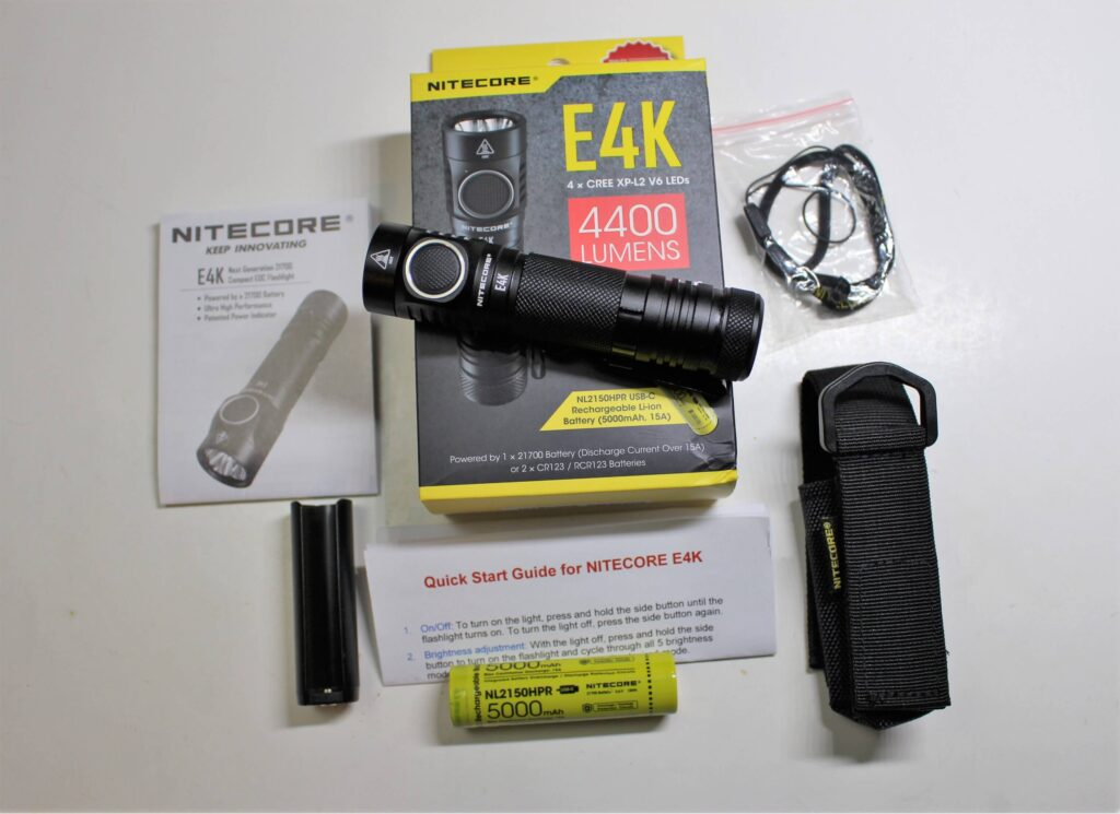 Nitecore E4K package